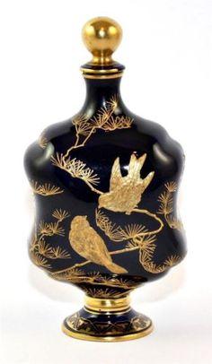 Rare Antique 19th C Coalport Perfume Bottle Aesthetic Movement