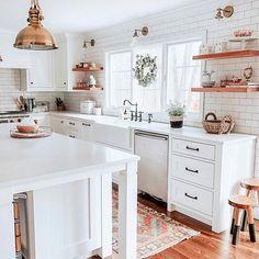 Home Interior Kitchen .Home Interior Kitchen Modern Farmhouse Kitchens, Home Kitchens, Farmhouse Decor, Farmhouse Style, Cottage Farmhouse, Kitchen Modern, Dream Kitchens, Farmhouse Ideas, Rustic Kitchen