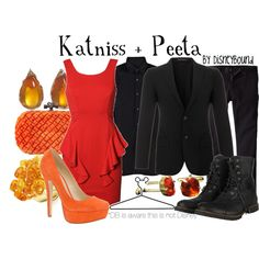 Katniss + Peeta, created by lalakay on Polyvore