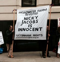 Empowerment Mondays The Weekly Protest 2014  Next Monday 17 March Empowerment Mondays will be at The Old Bailey in solidarity with Nicky Jacobs on trial for the alleged murder of PC Blakelock on the Broadwater Farm Estate in 1985... Another stitch up by the contemptible Met.
