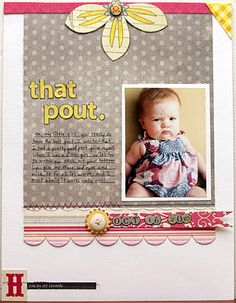 """That Pout"" Layout by Brenda Smith"