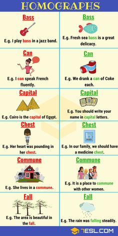 Homograph: List of Homographs from A-Z with Examples - 7 E S L English Speaking Skills, Learn English Grammar, English Vocabulary Words, Learn English Words, English Phrases, Grammar And Vocabulary, English Language Learning, Teaching English, English Vinglish