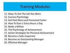 Personal & Productivity Training Modules
