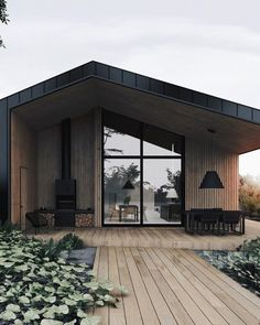 Movement In Architecture, Architecture Design, Back Porch Designs, Small Cottage Homes, Cottage House, Shelter Design, Farmhouse Remodel, Modern Farmhouse Decor, Cottage Design
