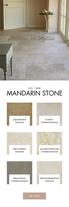 Mandarin Stone offer a wide range of stylish limestone tiles in natural tones from light to dark. Limestone Flooring, Travertine Tile, Stone Tiles, Tiling, Bungalow Extensions, House Extensions, Rear Extension, Extension Ideas, Hall Tiles