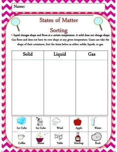 Worksheet Solid Liquid Gas Worksheet activities matter and the ojays on pinterest solids liquid gas sorting activity one of 19 pages from my 1st