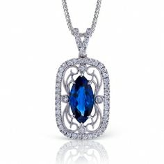 marquise sapphire and diamonds