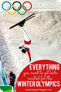 Everything you Need to Excite Kids for the Winter Olympics | sassafraspaper.blogspot.com