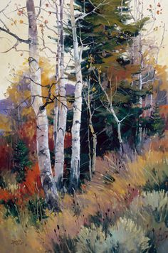 In this painting tutorial I am going to share some tips for painting beautiful trees. I also show you a step by step painting tutorial on how to paint a landscape that features lots of broadleaf trees. Watercolor Landscape Paintings, Watercolor Trees, Watercolor Artists, Landscape Fabric, Painting Abstract, Acrylic Paintings, Painting Trees, Landscape Materials, Landscape Edging