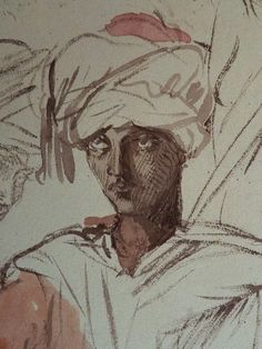 CHASSERIAU Théodore,1846 - Arabes - drawing - Détail 15