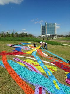 """Orly Genger's """"Boys Cry Too"""" installed at Hermann Park received the """"Best in Public Art Projects"""" award from the Public Art Network!"""