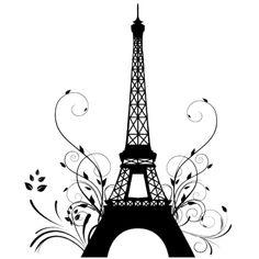 Autocolantes decorativos : Autocolante decorativo torre Eiffel
