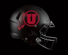 New Black Helmet for the University of Utah football team! #GoUtes