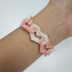 Crochet AF!: Linked Hearts Bracelet