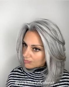 UNCOVER THAT GRAY    Listen Exclusive Health Wellness Program ! Sign up for free today Grey Dyed Hair, Silver Hair Dye, Long Gray Hair, Brown To Grey Hair, Grey Hair Over 50, Grey Hair Care, Dark Hair, Grey Hair Styles For Women, Natural Hair Styles