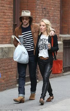 Sam Taylor-Johnson, and husband Aaron, step out, Chloe Grace, Sam Taylor Johnson, Aaron Taylor Johnson, Vogue Uk, Chloe Grace Moretz, British Actors, Celebrity Couples, Ankle Booties, Husband, Style Inspiration