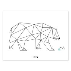 Distinctive Origami Play Beer – Poster The Effective Pictures We Offer You About Art Drawing nature A quality picture can tell you many things. Tape Art, Geometric Drawing, Geometric Art, Geometric Animal, Masking Tape, Washi Tape, Polygon Art, Beer Poster, 3d Pen
