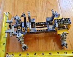 LEGO Technic Solid Chassis Front Steering Rear Differential - new parts Contains affi. Lego Technic Truck, Lego Machines, Lego Guns, Rear Differential, Lego Design, Lego Projects, Lego Super Heroes, Lego Moc, Lego Pieces