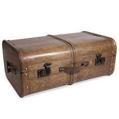 AVENTURIER wooden chest 40 x 65 cm