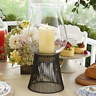 2-piece Large Glass Hurricane Lamp with Stand by Lenox