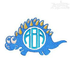 """Dino Dinosaur Embroidery Designs : 5"""" and 6"""""""