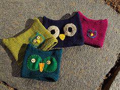 Knit owl hats!