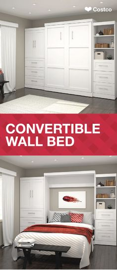 It's almost time for holiday houseguests and family to visit from out of town. Make sure your home is ready for visitors by installing this Convertible Wall Bed into your guest room. The best part? You can easily stow it away after the holidays to save space—not to mention, it has a classic, traditional style that you'll love! Shop this furniture piece and find additional festive Christmas decorations to pair with it at Costco.com!