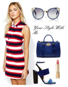 Stripe dress! by christina-geo on Polyvore featuring Fashion Union, Paul Andrew, Mulberry, Linda Farrow, Dolce&Gabbana, women's clothing, women's fashion, women, female and woman