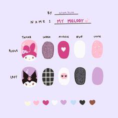 K Pop Nails, Swag Nails, Cute Nails, Gel Nails, Cute Nail Designs, Acrylic Nail Designs, Natural Color Nails, Anime Nails, Vintage Nails
