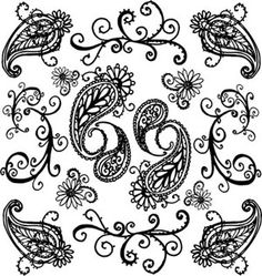 paisley felt designs - Google Search