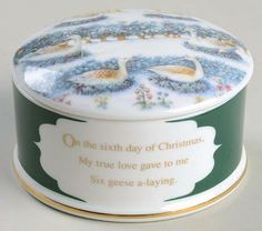 6 Geese A Laying -  in the Twelve Days Of Christmas pattern by Wedgwood China