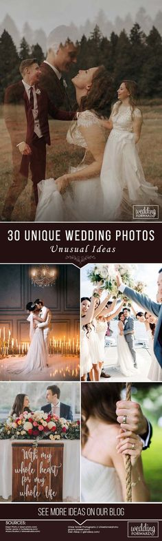 30 Unique Wedding Photos ❤ See more:  http://www.weddingforward.com/wedding-photos/ ‎ #weddings #photography #unique