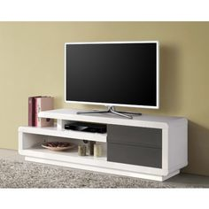 Meuble Tv Bas on Pinterest  Tv Storage, Meuble Tv Noir ...