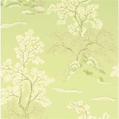 Tapet Oriental Tree Soft Green