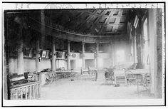 Inside the Old State House, Springfield, Sangamon County, IL c. 1898. Photographer unknown.
