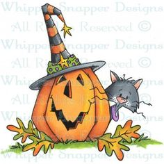 Whipper Snapper Design - Peek & Boo Use with an acrylic block for perfectly stamped images. This package contains one x inch cling rubber stamp. Halloween Cartoons, Halloween Doodle, Halloween Rocks, Halloween Painting, Halloween Drawings, Halloween Clipart, Halloween Ornaments, Halloween Pictures, Cute Halloween