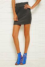 Sparkle & Fade Pull On Mini Skirt in Spot Print