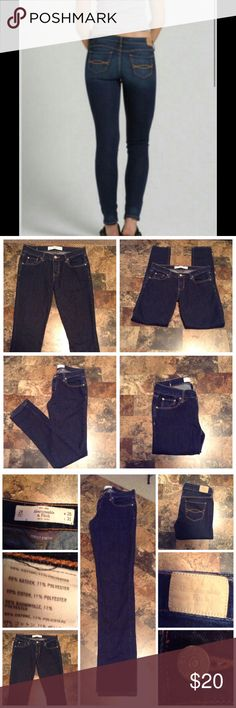 """Abercrombie & Fitch Skinny Jeans First pic of model wearing this style of Jeans.  Last 3 Pics are of actual item/color.  Size 2R.  Waist 26.  Leg Opening """"5.5. Laying flat """"13. Length """"39.  Rise """"8.5. Inseam """"31. This item is NOT new, It is used and in Good condition. Authentic and from a Smoke And Pet free home. All Offers through the offer button ONLY.  Ask any questions BEFORE purchase. Please use the Offer button, I WILL NOT negotiate in the comment section. Thank You😃 Abercrombie…"""