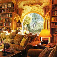 Warm, comfortable and inviting. I could sit here for hours reading a good book.