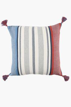 Yarn Dye Umbria Tassle Scatter Cushion, - Cushions, Covers &am
