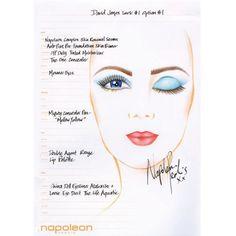 Napoleon Perdis Spring Summer 2012 Makeup Look 1.