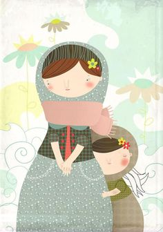 mother and Child Children's Book Illustration, Graphic Design Illustration, Illustration Mignonne, Art Fantaisiste, Whimsical Art, Mother And Child, Illustrations Posters, Illustrators, Art For Kids