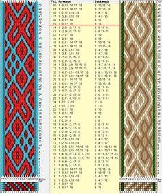 Enhebrados opuestos, movimientos coincidentes / 18 tarjetas, 4 colores, repite cada 44 movimientos// sed_805 & sed_805a diseñado en GTT༺❁