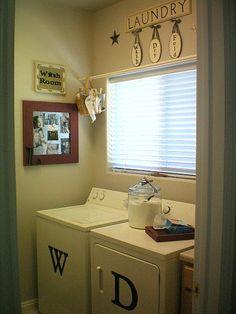 jazz up a laundry room