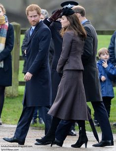 Prince William, Duke of Cambridge and Catherine, Duchess of Cambridge along with Prince Harry made their way to the Sunday service at the Sandringham estate,  December 27, 2015.