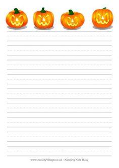 Free Halloween Writing Paper to print