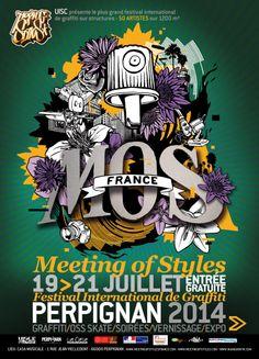Graffiti styles exhibition MOS France2014 Perpignan 19 - 21 July 2014