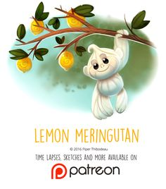 Daily Paint 1452. Lemon Meringutan by Cryptid-Creations on DeviantArt