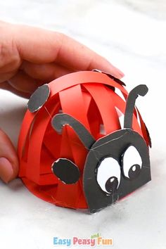 Here we are with another adorable and simple paper ladybug craft, we've made this ladybug paper craft a while ago but as crafting with paper is just so fun it was time to make another, different one. crafts for kids for teens to make ideas crafts crafts Arts And Crafts For Teens, Art And Craft Videos, Diy Crafts For Kids, Easy Crafts, Art For Kids, Lady Bug, Ladybug Crafts, Arts And Crafts Movement, Paper Crafting