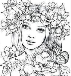 Lady Spring | Mariola Budek - Premium Coloring Page
